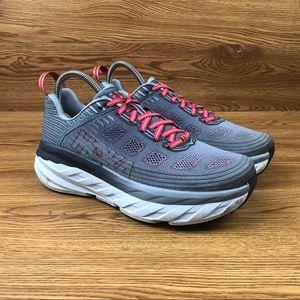 Hoka One One Bondi 6 Red Trail Running Shoes